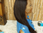 18 inch lace front straight wig