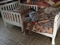 Barely used toddler bed and mattress