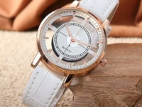 Transparent unisex stainless steel back watch