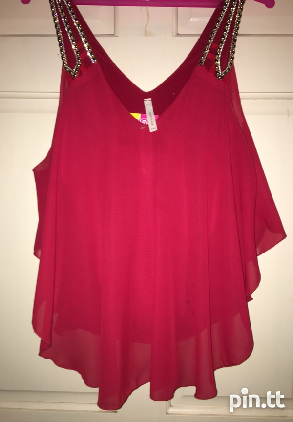 Red Dressy Top-1
