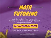 Math Tutoring SEA,Forms 1 to 5