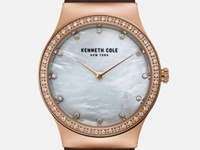 Rose Gold-Tone Silicone watch