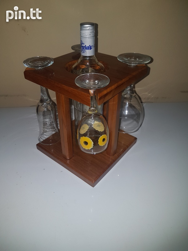 Wine Glass And Bottle Holder-1
