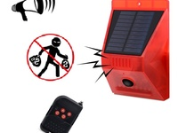 Solar Alarm with Motion Detector, Solar Alarm Light with Remote Contro