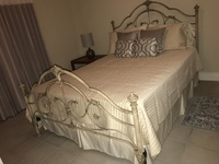 Metal Bed with Mattress Queen Size
