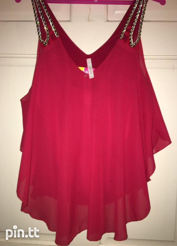Red Dressy Top-2