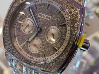 Bulova All Diamond Crystal Accent Silver Multi Day Date Watch New