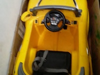 Yellow Toy Convertible