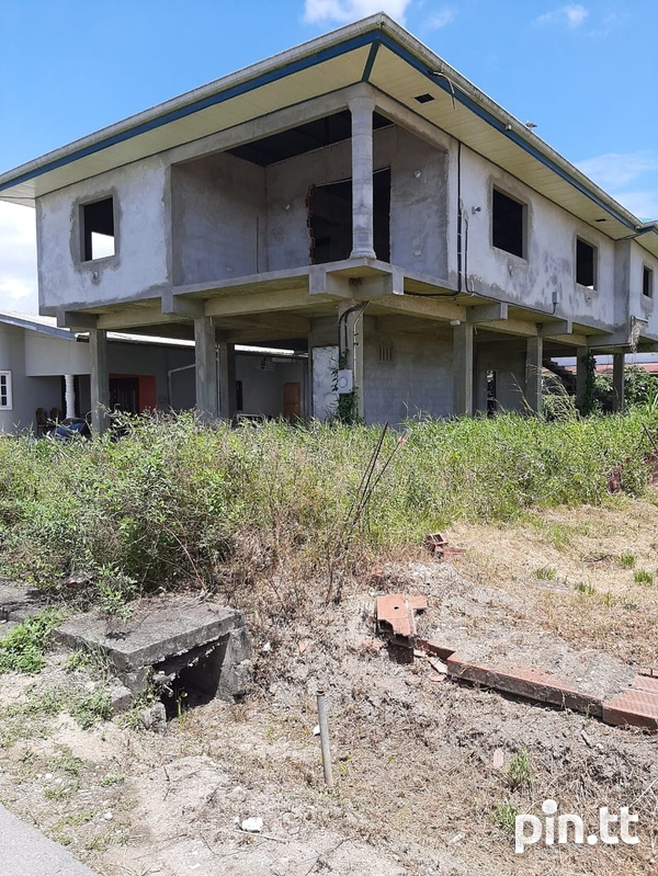 Unfinished Cunupia House with 4 Bedrooms-3