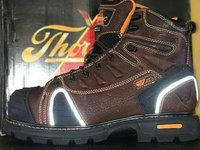 NEW STEEL TIPPED WORK BOOTS - REFLECTIVE