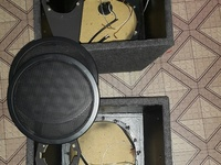 A pair of mid box loaded with drivers, 8inch eminence and a pair of...
