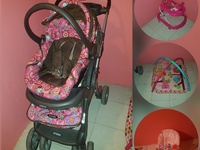 Car seat, stroller, playmat, bouncer and walker