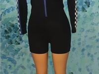Long sleeve racer romper