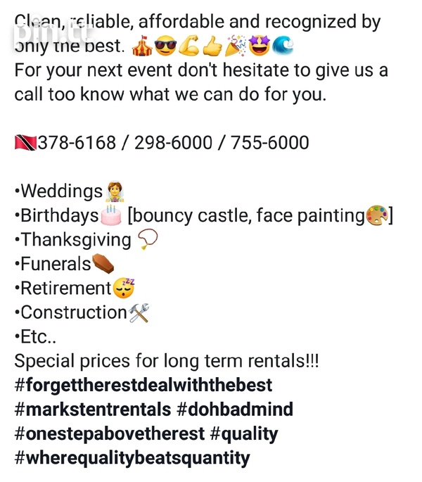 Tent, scaffolding, chairs, tables, bouncy castle, face painting, etc-5