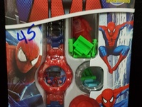 Spiderman and Barbie Watch Sets