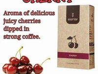 Ground Coffee with cherry aroma.