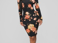 Fitted flora dress PRE ORDER ONLY