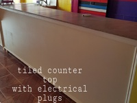 Tiled counter top