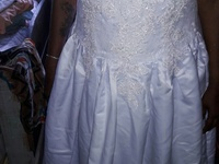 wedding dress wear once good condition