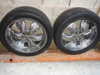 Used 6 hole rims and tyres