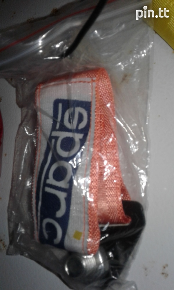 sparco replica tow strap and JDM BONNET SPACERS-2