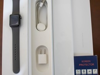 iPhone watch, series 3, 38mm comes in box, black in colour