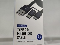 2 in 1 Type - C and Micro USB Cable