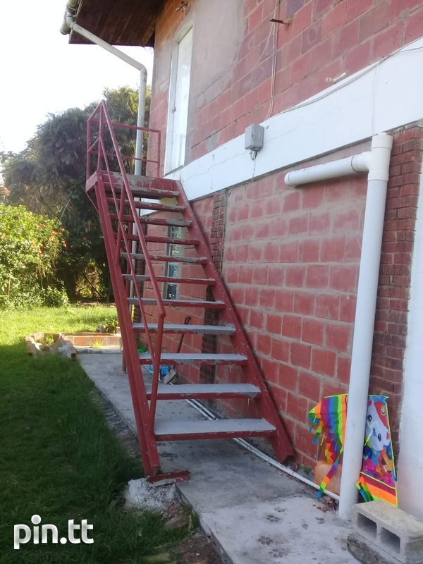 Iron staircase and doors-2