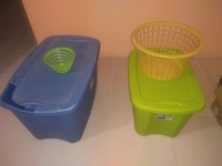 Blue Tub, Green Tub, Yellow Basket and Unusual Green Container Package