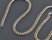 Two toned gold/silver Stainless Steel chain