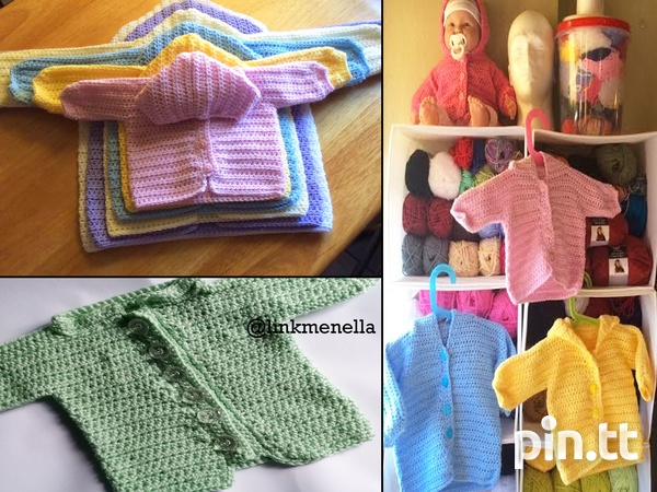 Link Me Nella - Crochet baby Sweater 0-5mths-3
