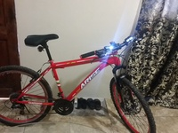 Good riding bicycle with lights