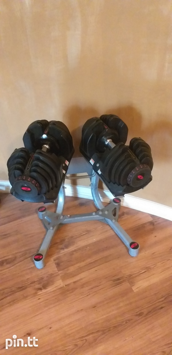 Bowflex Adjustable Dumbbell Set, Stand and Adjsutable Bench-1