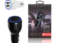 USB Car Charger Fast Charger 6 AMP Dual