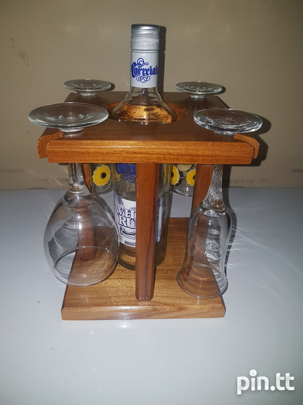 Wine Glass And Bottle Holder-3