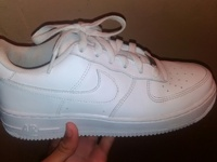 White air force one size 6