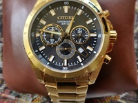 Citizen Chronograph Gold Tone Men's Watch Brand New