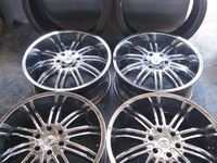 22IN Chrome rims and 2 low profile tyres
