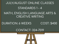 July/August Online Classes