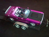 1970 Dodge Challenger with Trailer - 1/24 scale model