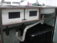 3 sinks and grease trap