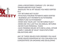 Tax amnesty services