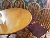 5pc wooden dining set