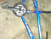 Mountain bike frame with the parts