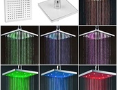 8 inches 7 Colors LED Romantic Shower Head