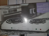 Electric double hotplate...new