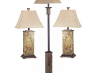 3 pc. Marble Decorative Lamps