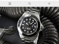 Steinhart Ocean One Diver Black Ceramic. Automatic And Manual Wind.