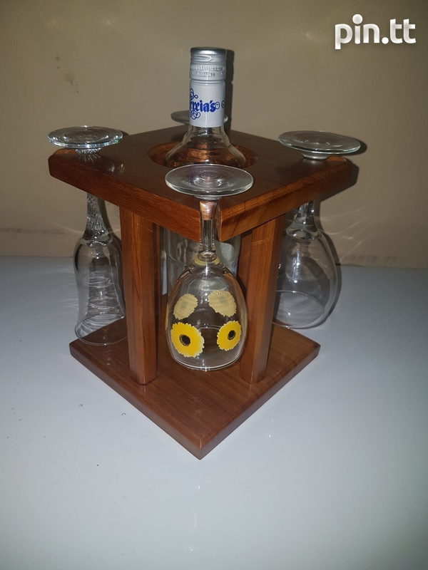 Wine Glass And Bottle Holder-2