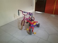 Kids tricycle and bicycle
